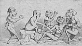 Devils at Home - Breathing a Vein, c19th century