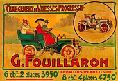 Advertisement for Fouillaron cars, c1900s