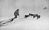 Nansen and Johansen Sledging Through The Drift Snow in 1895
