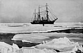 The Nimrod Pushing Her Way Through Open Pack-Ice, c1909
