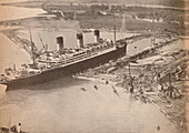 The White Star Liner Majestic at Southampton, c1934