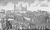 Execution of the Earl of Strafford, Tower Hill, London, 1641