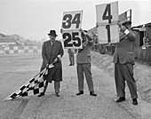 Ready to wave the chequered flag, Brooklands