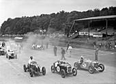Motor race at Donnington Park, Leicestershire, 1936