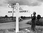 1930s Finger sign post in Wiltshire