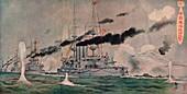 Beschiessung von Port Arthur durch die Japaner, c1905