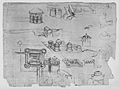 Drawings of a Square Castle, c1480 (1945)
