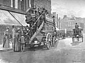 New Bridge Market - Struggle for the Bus, 1891