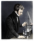Michael Faraday, British chemist and physicist, c1845