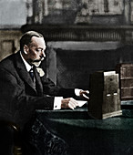 King George V broadcasting to the empire on Christmas Day