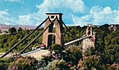 Clifton Suspension Bridge from the Observatory, c1940s
