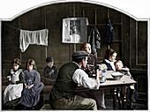 Old room in Slumland, London, c1900 (1901)