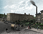 The mill at Saltaire, c1880
