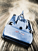 Sir Malcolm Campbell at high speed in `Blue Bird`, 1935