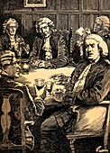 Dr Johnson Discoursing With His Friends, c1900