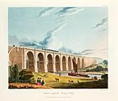 Viaduct across the Sankey Valley, Warrington, Cheshire, 1831