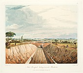 Near Liverpool, looking Towards Manchester, 1831