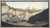 Stratum of Lava from Mount Vesuvius in 1631