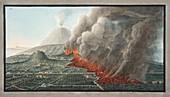View of an eruption of Mont Vesuvius, 1776