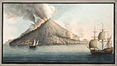View of the island of Stromboli, 1776