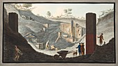First discovery of the Temple of Isis at Pompeii, 1776