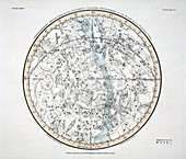 The Southern Hemisphere (Plate XXVIII), 1822