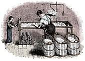 Cotton manufacture, c1845