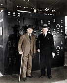 Guglielmo Marconi and David Sarnoff, 1933