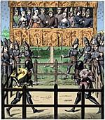 Single combat, 15th century (1849)