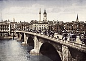 London Bridge, City of London, 1911