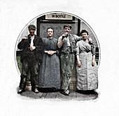 Outside a public house, London, c1903 (1903)