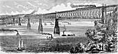 Proposed Bridge across the Hudson at Poughkeepsie, 1883