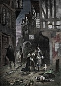 The Great Plague: scenes in the streets of London, 1665-1666