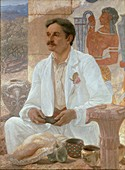Sir Arthur Evans at the Palace of Knossos, 1907