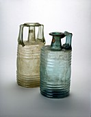 Barrel-shaped glass bottles made by Frontinus, 4th Century