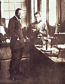 Pierre and Marie Curie in their Laboratory, 1898