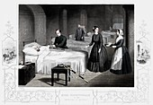 Florence Nightingale in the hospital at Scutari, c1860