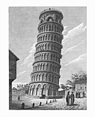The Leaning Bell-Tower, at Pisa, c1824