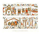 Sections of the Bayeux Tapestry