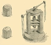 Press and Dies Formerly Used in the Mint, c1872