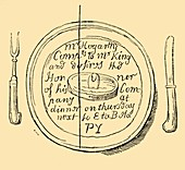 An Invitation Card by Hogarth, 1881