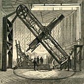 The Great Equatorial Telescope in the Dome, Greenwich Observ