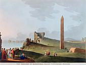 The Obelisks at Alexandria, Egypt, 1802