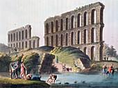 Ruins of the Grand Aqueduct of Ancient Carthage, Tunisia