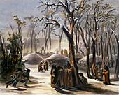 Winter Village of the Minatarres, 1843