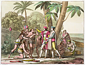 Christopher Columbus with Native Americans, 1492-1503