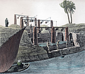 Collecting water from the Nile, Egypt, c1798