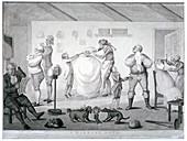 A barber's shop, 1784