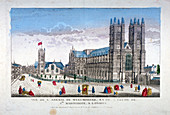 Westminster Abbey and St Margaret's Church, London, c1755