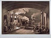 Le roi a la station de New Cross, 1844
